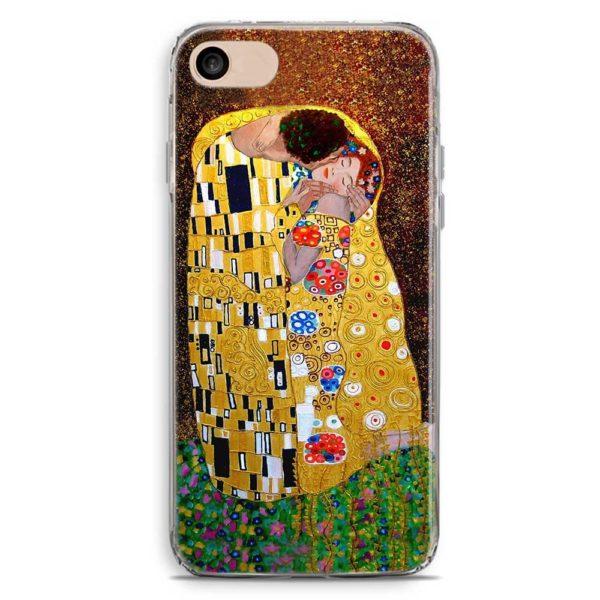 Cover smartphone stile bacio di Klimt