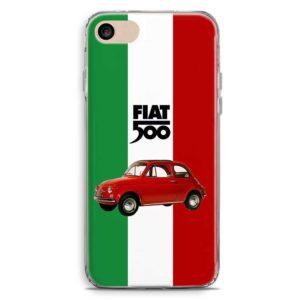 Cover smartphone stile fiat 500 con bandiera italiana
