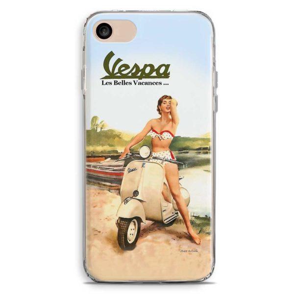 Cover smartphone Les Belles Vacances Piaggio Vespa Pin-Up