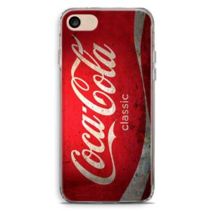 Cover smartphone in stile lattina di Coca Cola