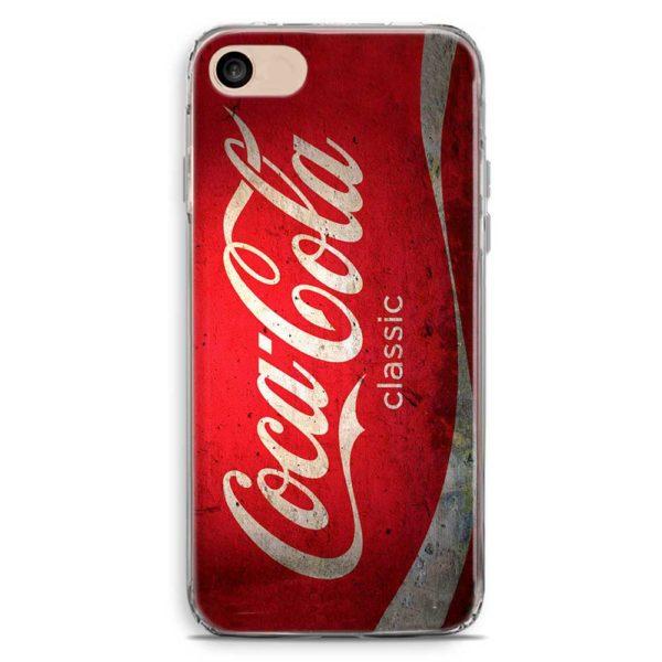 Cover smartphone in stile lattina di Coca Cola
