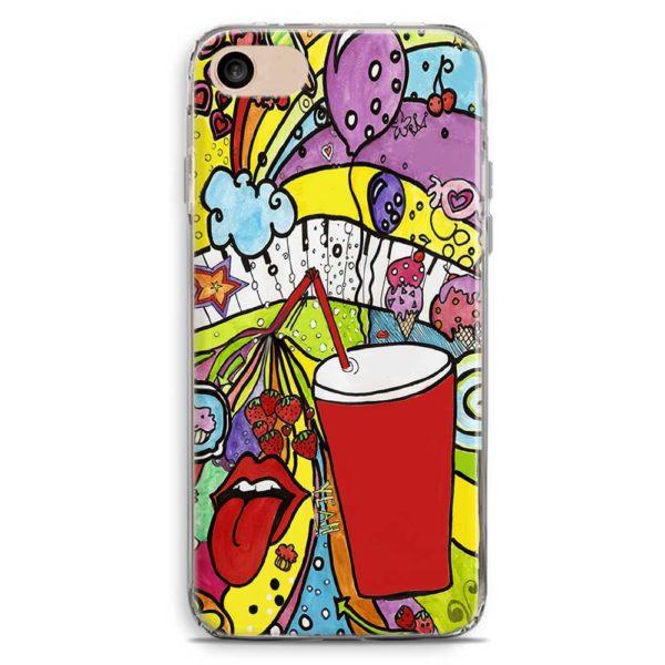 Cover smartphone stile fantasia bibita logo Rolling Stones