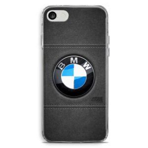 Cover per smartphone con logo auto BMW in stile pelle