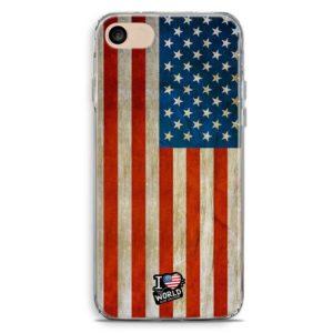 Cover smartphone con bandiera americana vintage