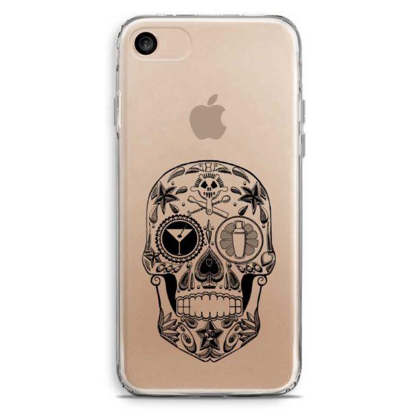 Cover smartphone teschio messicano porta fortuna