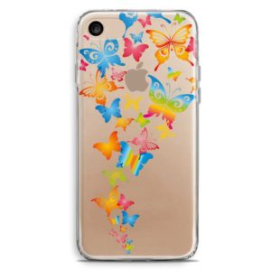 Cover smartphone con farfalle colorate