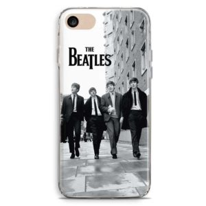 Cover smartphone in bianco e nero The Beatles