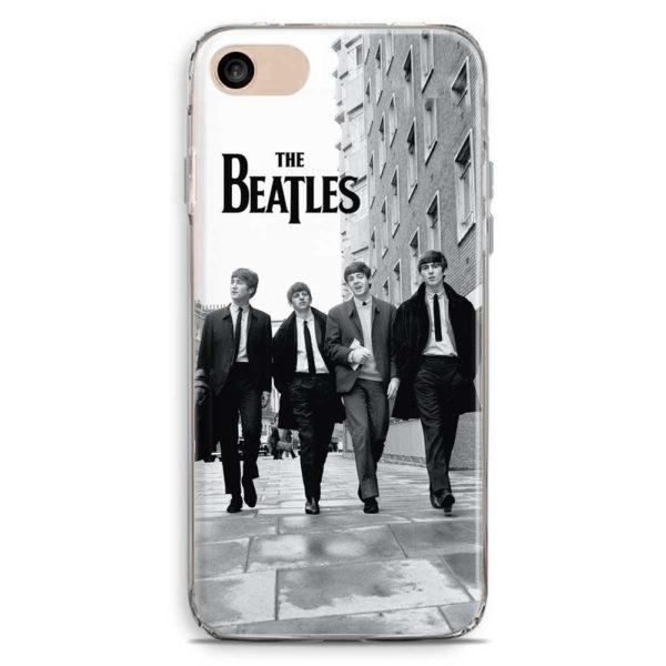 Cover smartphone in bianco e nero The Beatles