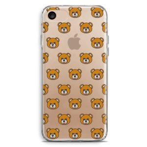 Cover smartphone con texture orsetti sorridenti