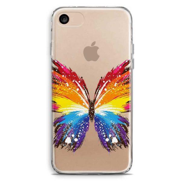 Cover smartphone farfalla colorata arcobaleno