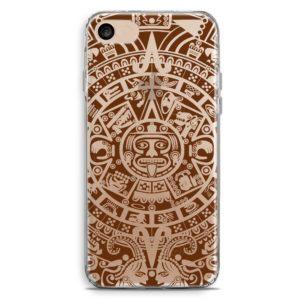 Cover smartphone trasparente stile profezia maya