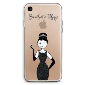 Cover smartphone glitter colazione da Tiffany