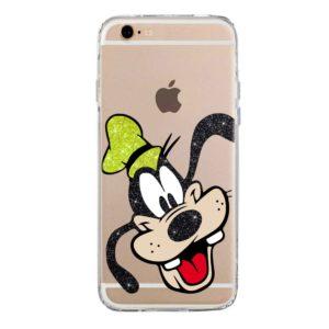 Cover morbida per smartphone con Pippo Goofy Disney glitter