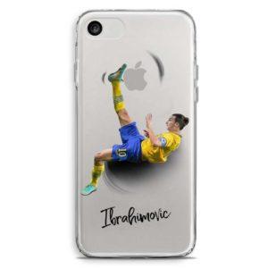 Cover trasparente per smartphone con rovesciata di Zlatan Ibrahimovic con maglia Svezia