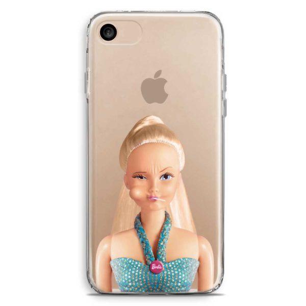 Cover trasparente smartphone barbie lecca lecca