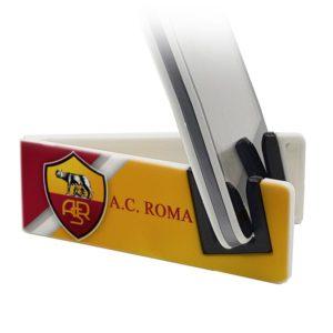 Stand per smartphone per appassionati di calcio con logo AC Roma