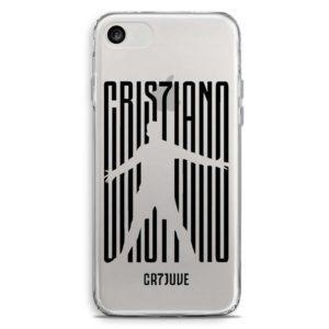 Cover morbida per smartphone logo Cristiano Ronaldo Juventus CR7