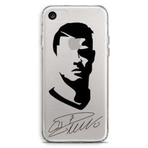 Cover morbida per smartphone con faccia Cristiano Ronaldo Juventus